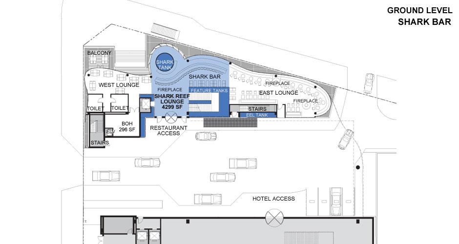 Shark Bar Floor Plan