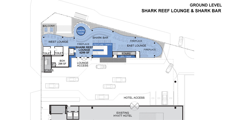 Shark Reef Lounge & Shark Bar Floor Plan