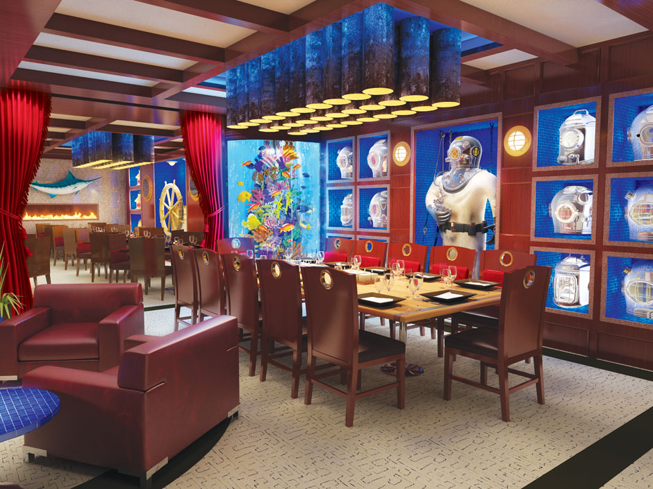 Diver's Den and Private Dining Rendering